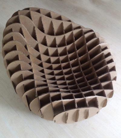 sillon de carton corte laser