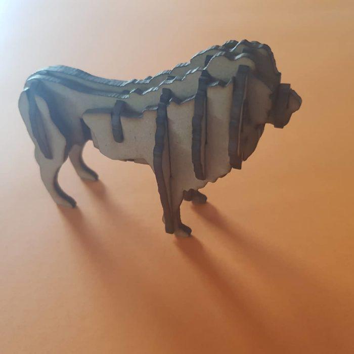 puzzle de madera leon